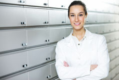 Portrait of a female pharmacist Stock Photos
