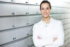 Portrait of a female pharmacist Stock Photos