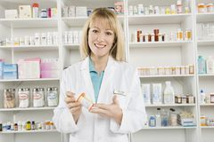 Portrait Of Female Pharmacist Royalty Free Stock Image