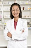 Portrait Of Female Pharmacist Smiling stock images
