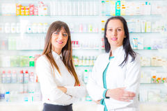 Portrait of female pharmacists Royalty Free Stock Image