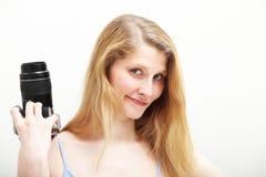 Portrait of female photographer Stock Photo