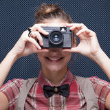 Portrait of female photographer Stock Photography