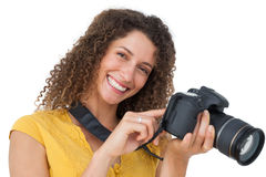 Portrait of a female photographer Stock Photography