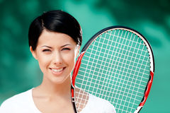 Portrait of female player Royalty Free Stock Images