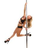 Portrait of a female pole dancer Royalty Free Stock Photography