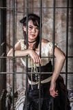 Portrait of Female Prisoner Royalty Free Stock Photography