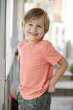 Portrait Of Female Pupil Outside Classroom At Montessori School Royalty Free Stock Images