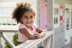 Portrait Of Female Pupil Outside Classroom At Montessori School Royalty Free Stock Photos