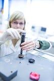 Portrait of a female researcher Stock Image