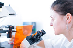 Portrait of a female researcher Royalty Free Stock Images