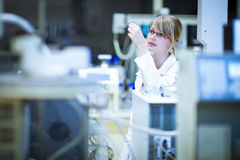 Portrait of a female researcher/chemistry student Royalty Free Stock Photo