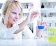 Portrait of a female researcher/chemistry student Royalty Free Stock Image