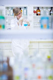 Portrait of a female researcher doing research Royalty Free Stock Photo