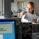 Portrait of a female researcher Stock Photos