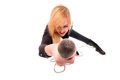 Portrait of female rock singer Stock Photography