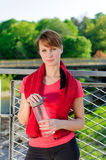Portrait of female runner Royalty Free Stock Photo