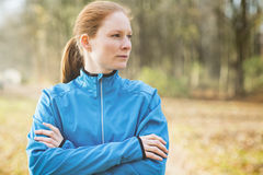 Portrait of a Female Runner Stock Photography
