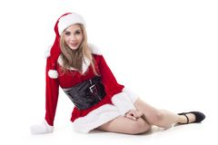 Portrait Of Female Santa Claus Royalty Free Stock Image