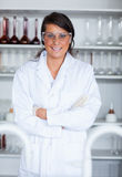 Portrait of a female science student posing Royalty Free Stock Photo