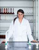 Portrait of a female scientist posing Royalty Free Stock Photography