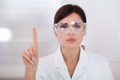 Portrait of female scientist Stock Photo