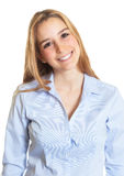Portrait of a female secretary with blond hair Royalty Free Stock Photography