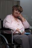 Portrait of female senior patient Royalty Free Stock Photos