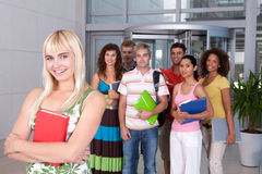Portrait of female student Stock Images