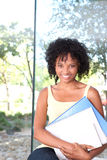 Portrait of female student Stock Photo