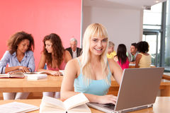 Portrait of female student Royalty Free Stock Photography