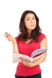 Portrait of female student with books Stock Photography