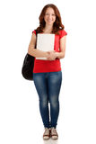Portrait of female student with books Royalty Free Stock Images