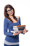 Beautiful student girl Royalty Free Stock Photo