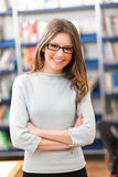 Female student in a library Stock Photo