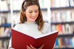 Female student in a library Stock Photography