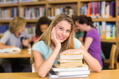 Portrait of female student in library Stock Photography