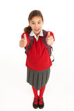 Portrait Of Female Student In Uniform Stock Photos