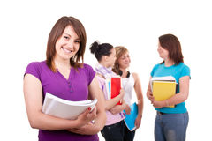 Portrait of a female students Stock Photography