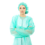 Portrait of female surgeon or nurse Stock Images