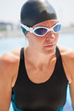 Portrait of female swimmer Stock Image