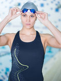 Portrait of a female swimmer Royalty Free Stock Images