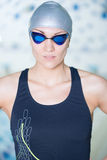 Portrait of a female swimmer Royalty Free Stock Photo