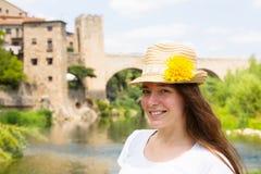 Portrait of female tourist Royalty Free Stock Photos