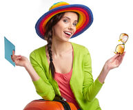 Portrait of female tourist Royalty Free Stock Photography