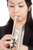 Portrait of a Female Trumpet Player Royalty Free Stock Photo