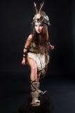 Portrait of the female viking Stock Photos