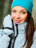 Portrait of female wearing warm clothes Royalty Free Stock Photo