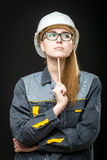 Portrait of a female worker Stock Images
