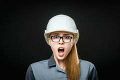 Portrait of a female worker Royalty Free Stock Images
